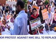 More than 2 lakh Doctors Protested on Govt's Proposal to dissolve MCI, Replace it with National Medical Commission (NMC).