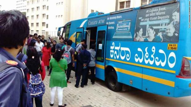 #CANARABANK ATM approaches door steps; set example in Demonetisation Crucial time in Bengluru