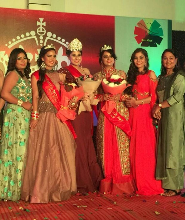 Mrs. Ammy of Zirakpur won title of Mrs North India
