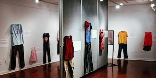 Just to say 'it is not their fault', an exhibition of their clothes presented