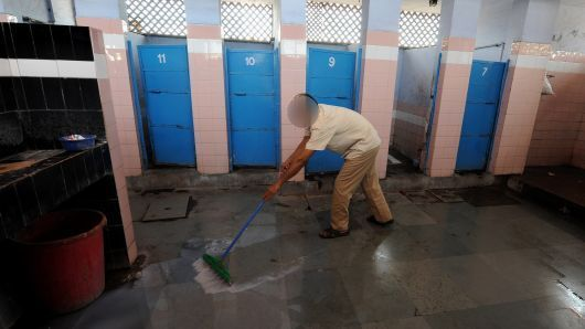 "A Chandigarh man who cleans Toilets; so that his ""Karma"" shall get clean"