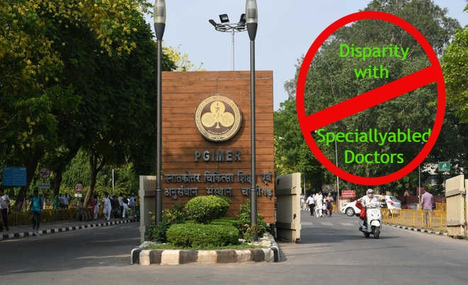 Disparity with Specially abled doctors by PGIMER?