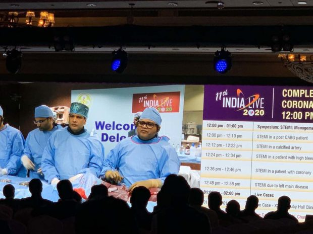 LIVE cardiac surgery case beamed in INDIA LIVE 2020