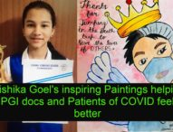 Her Paintings are providing solace to COVID Patients in PGIMER