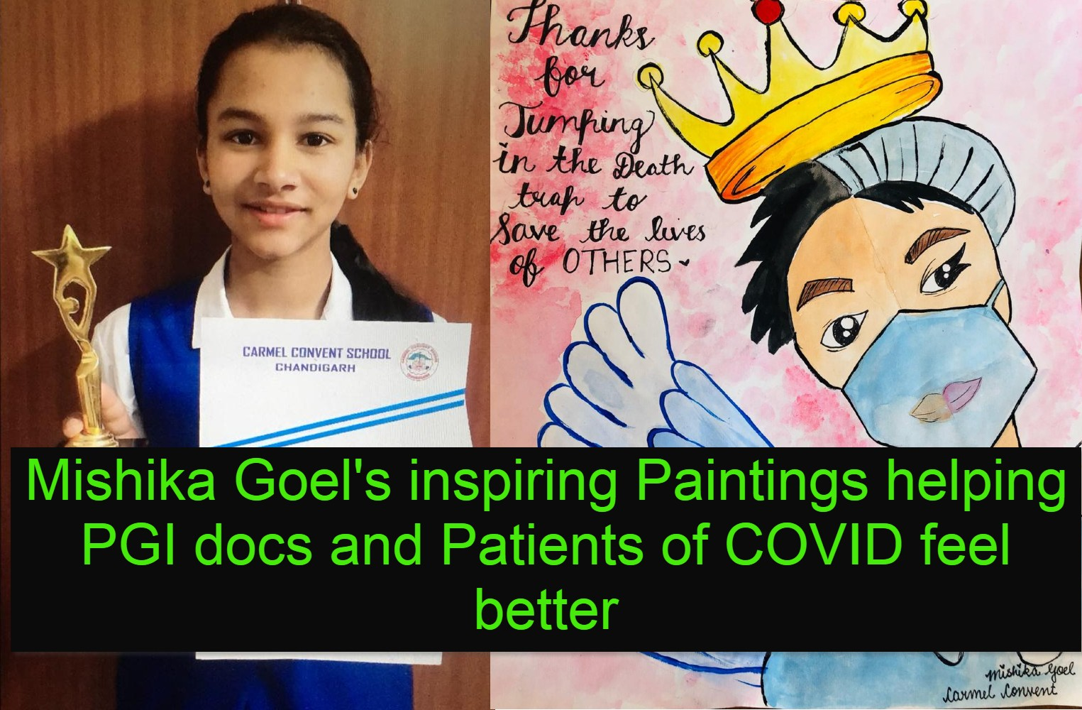 Her Paintings are providing solace to #COVID Patients in PGIMER