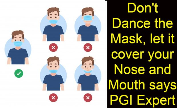 Mask is there, but down the nose or wrongly worn!!