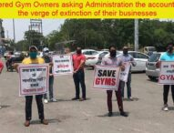 On verge of Collapse yet Gym owners protesting with social distancing