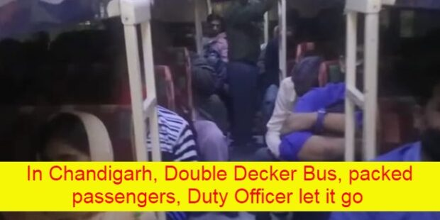 Double Decker Bus, packed passengers, Duty Officer let it go